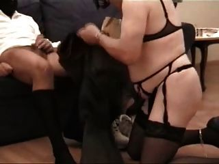 Amateur - Mmf Threesome - Black Wife Cuckolds Sissy Hubby