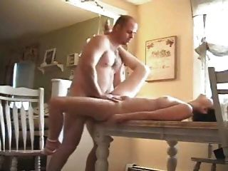 Homemade Video Of A Girlfriend Getting Fucked On A Table
