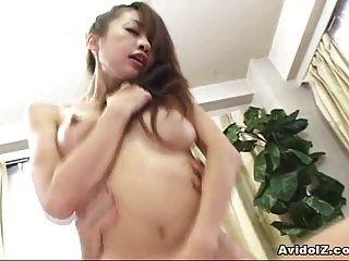 Busty Japanese Babe Gets Fucked Hard