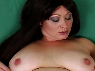 Busty Milf: Touching Herself