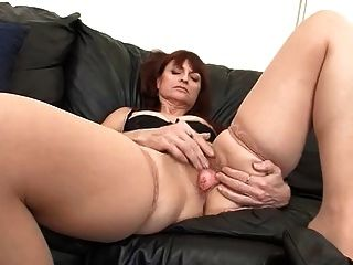 Mature Redhead Gives Solo Fucking Show