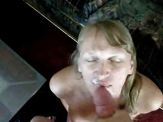 Blonde Milf Gets Jizzed All Over Her Face