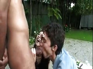 Big Black Cock Getting Suck By A Couple