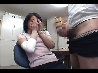 She Has Never Seen A Cock So He Strips And Masturbates
