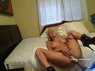 Blonde Pornstar Amy Brooke Live Sex Machine
