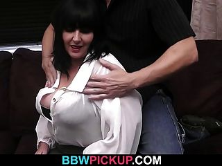 Big Brunette Is Picked Up And Fucked