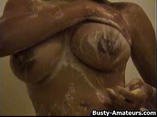 Busty Gia On Hot Shower