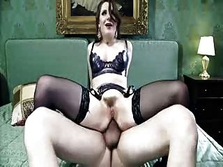 British Slut Samantha Gets Fucked Up The Arse In Stockings