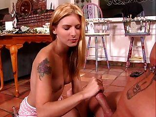 Beautiful Blonde Making Handjob