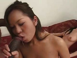 Asian Babes Sodomied By This Hung Black Dude