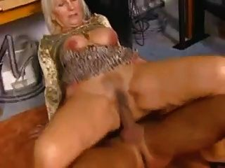 Granny Sits On A Dick