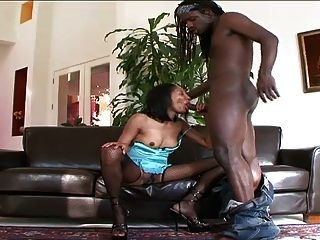 Mature Black Milf Enjoys Getting Fucked By A Young Stud