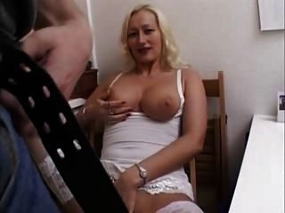 German Milf Fucks In The Kitchen