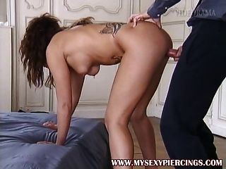 Pierced And Tattooed Babe Ass Fucked - Anal Piercings