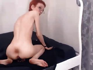 18yo eleanor fucks herself with a glass toy - 3 4