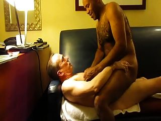 White Daddy Makes Black Daddy Cum From Breeding