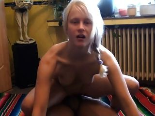 Moaning German Blonde In All Holes And Facial