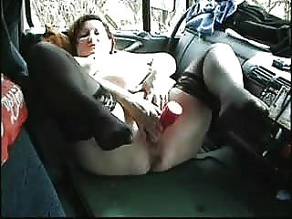 Mature Slut Masturbating In Car