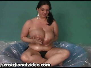 Bbw Superstar Maria Moore Oils Up Her Huge Tits
