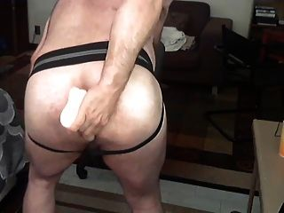 Hairy Coach Showing Off In A Jockstrap