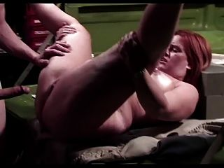 Pear Shaped Redhead Gives Mechanc A Boner And A Bonus