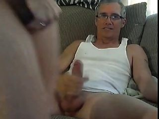 Blonde Slut Gets Fucked By Older Man On Webcam