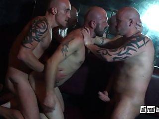 Bareback Threesome Sauna Fuck