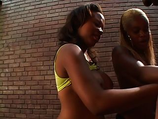 Female Interracial Gangbang With Strap-ons