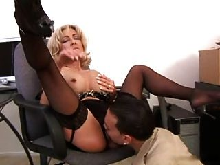 Mature Boss Fuck In Stockings
