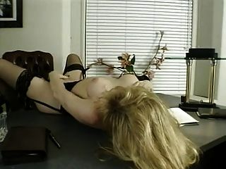Blonde Tgirl Big Cock Tugging