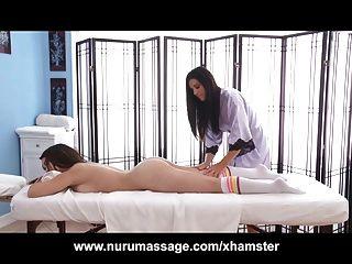 Kira Sinn Gets A Lesbian Massage From India Summer