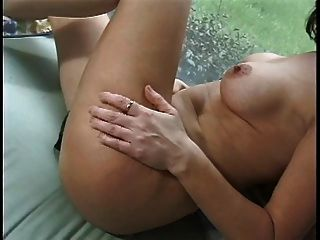Nasty Slut With Big Jugs Takes Off Her Panties And Rubs On Her Pussy