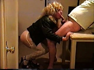 Blonde Cd On Her Knees Blowing Her Man