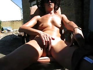 Wife Masturbates In The Backyard By Wf