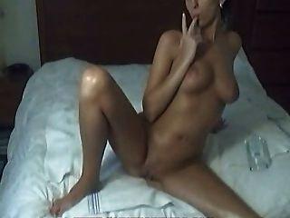 Hot Girl Fingering On Her Bed