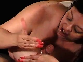 Bbw With Big Boobs Sucks Cock And Get A Cumshot