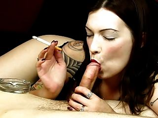 Smoking Fetish - Tattoo And Bolwjob