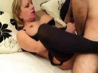 Mature Blonde Fucking Young Guy