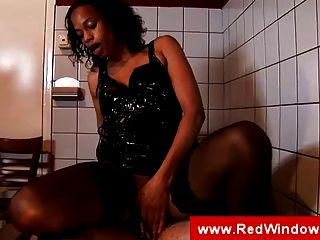 Black Whore In Stockings Gets Fucked