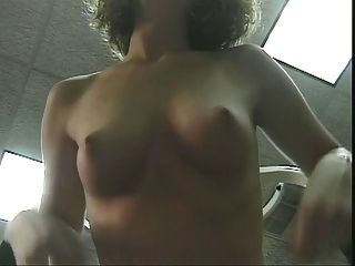 Horny Gym Time With Frizzy Haired Naked Brunette