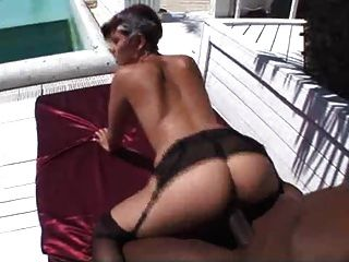 Black Cock Fucks Her Ass