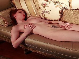 Gorgeous Redhead Pink Pussy Pink Tits Pale Skin