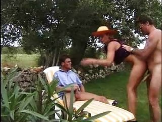 Mature Bitch Fucked In Her Sunhat