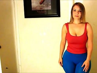 Mal Malloy Big Ass (blue Leggings)