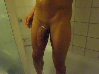 Housemate with big cock in shower