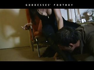 Smoking Fetish Female Domination In Leather Boots