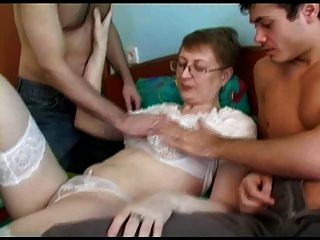 Mature Fuck Three Young Guy