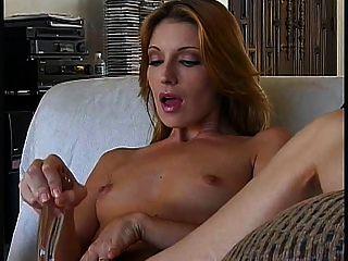 Gorgeous Mature Cougar Masturbates With Dildo