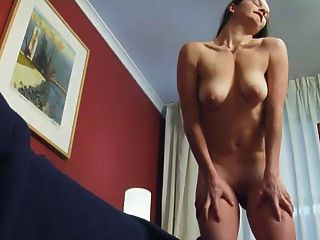 Brunette Edie Shave Pussy Masturbate With Toy