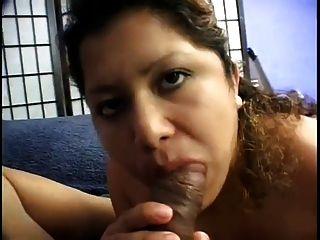 Chubby Pregnant Latina Sucks And Fucks With Big Black Cock